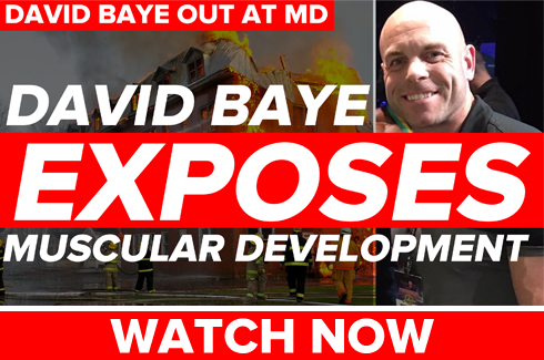 david baye out at muscular development