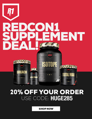 Great Deals at RedCon1 Supplements