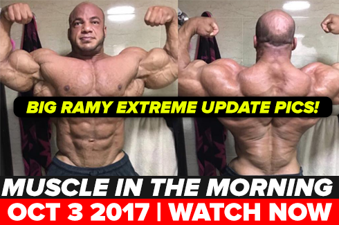 big ramy muscle in the morning