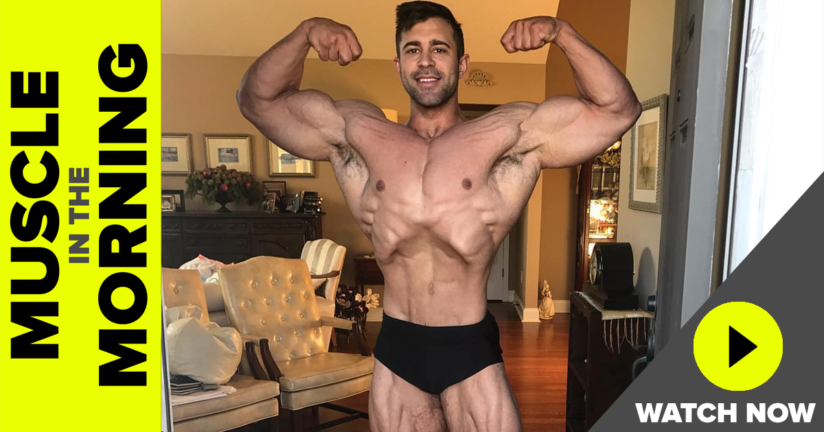 nat paul classic physique muscle in the morning