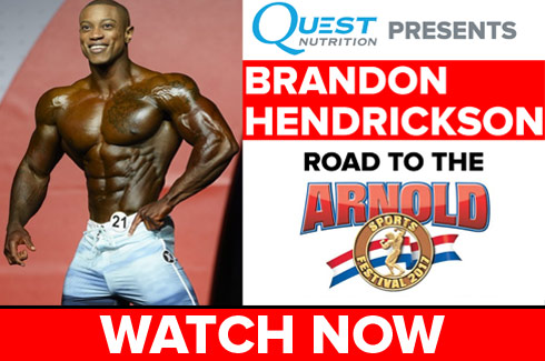 brandon hendrickson interview before arnold classic 2017