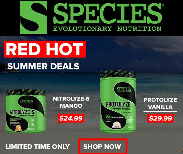 SPECIES August Blowout rx