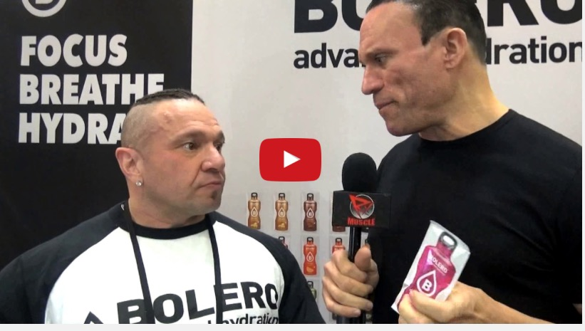 Dave Palumbo stops by the Bolero Advanced Hydration booth