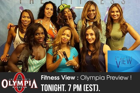 The Fitness View 9/9/15 Olympia preview, Margie Martin, Jillian Reville, & Jenaya Hofer